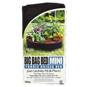 BoutiqueHortiplan.ca | Smart Pots Big Bag Bed Mini Jardinière surélevée en tissu  – NOIR